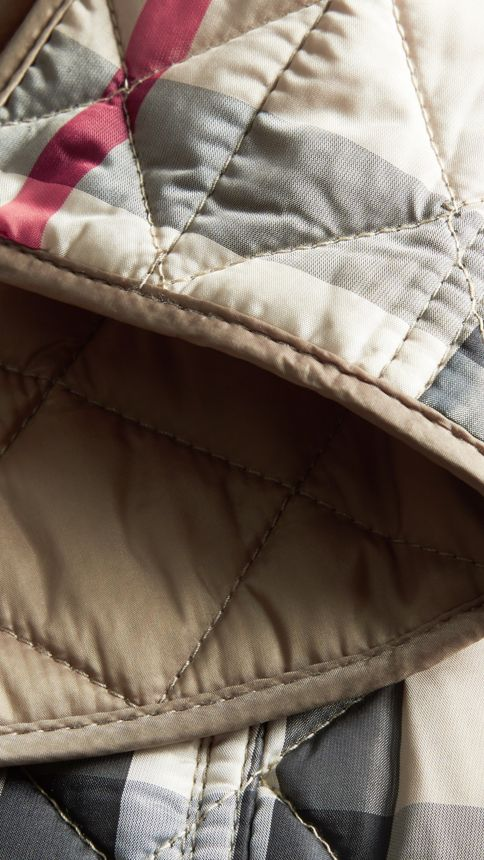 Pale fawn Diamond Quilted Jacket Pale Fawn - Image 2