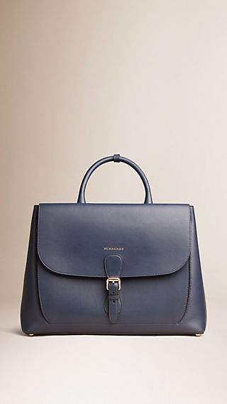 The Large Saddle Bag in Smooth Bonded Leather
