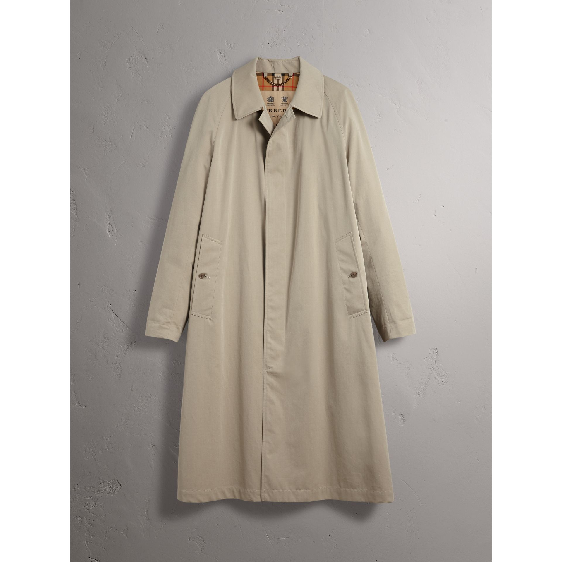 Car Coat The Brighton (Gris Sable) - Homme | Burberry - photo de la galerie 3