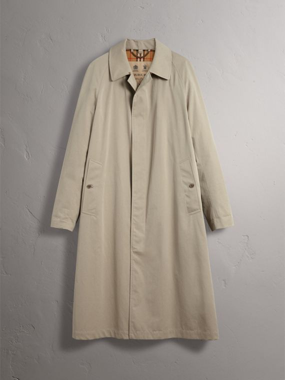 The Brighton – Longline Car Coat in Sandstone - Men | Burberry - cell image 3
