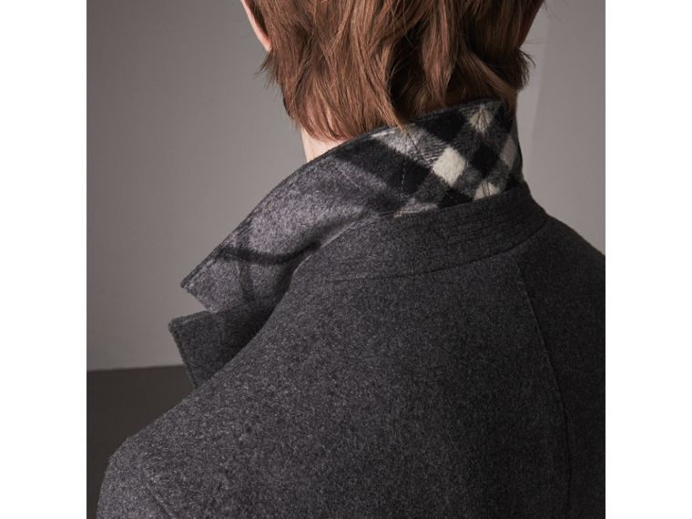 Melange Wool Blend Coat in Dark Grey - Men | Burberry - cell image 4