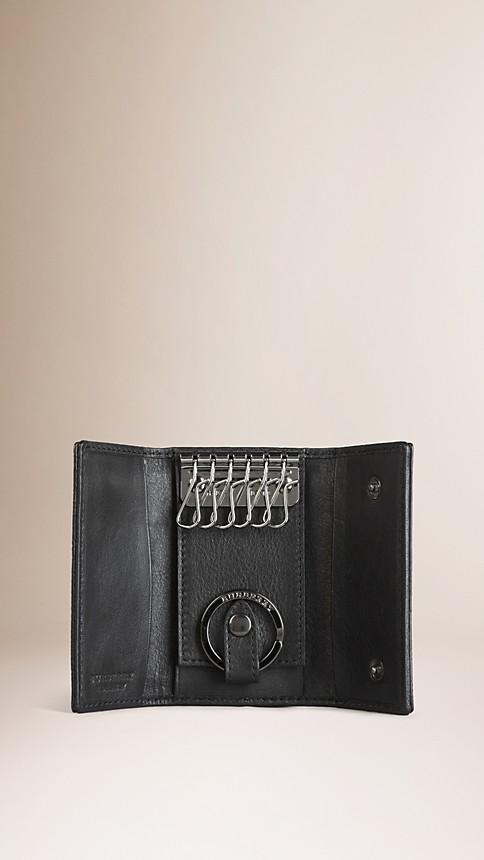 Black London Leather Key Case - Image 3