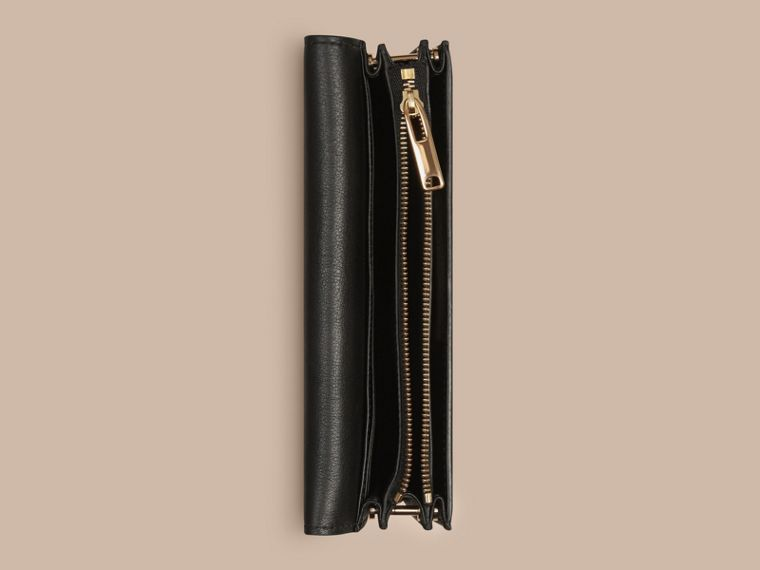 Black Leather Clutch Bag with Chain - cell image 4