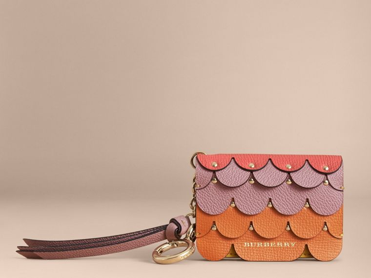 Scalloped Leather Card Case in Bright Straw - Women | Burberry Australia - cell image 4