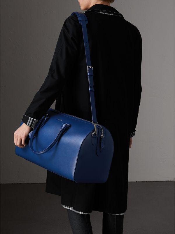 London Leather Holdall in Deep Blue - Men | Burberry - cell image 3