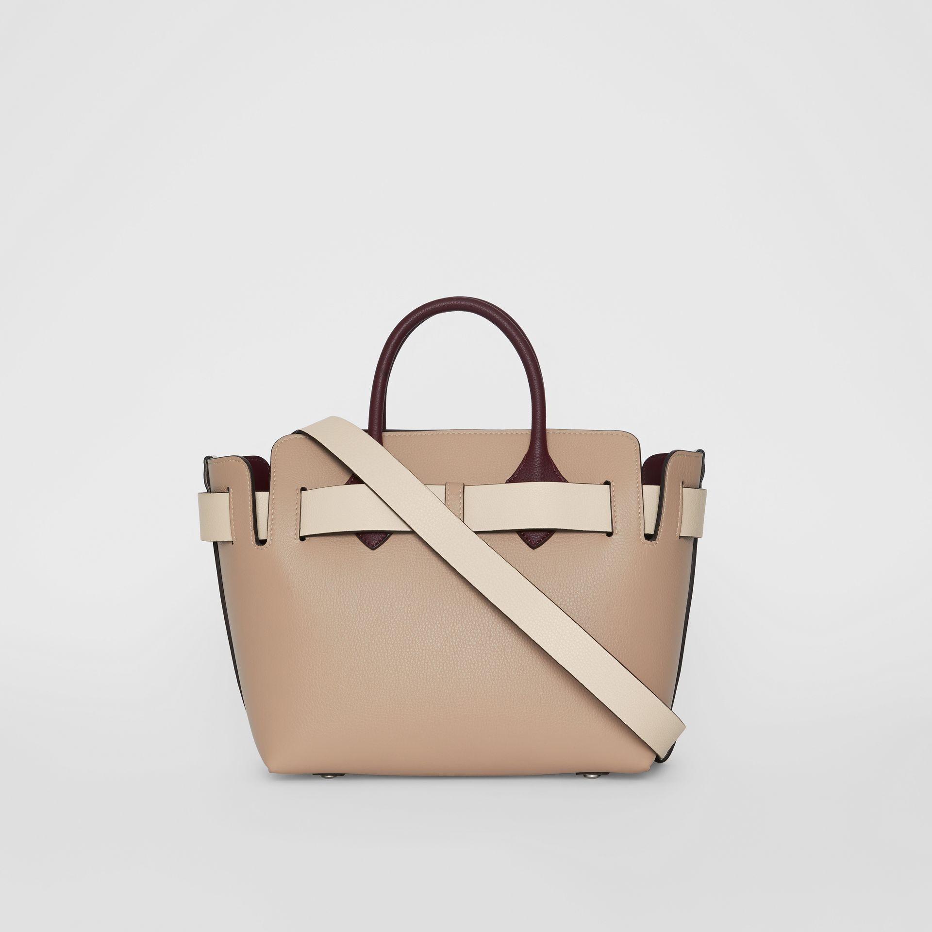 The Small Tri-tone Leather Triple Stud Belt Bag in Limestone/pale Drift - Women | Burberry United Kingdom - gallery image 7