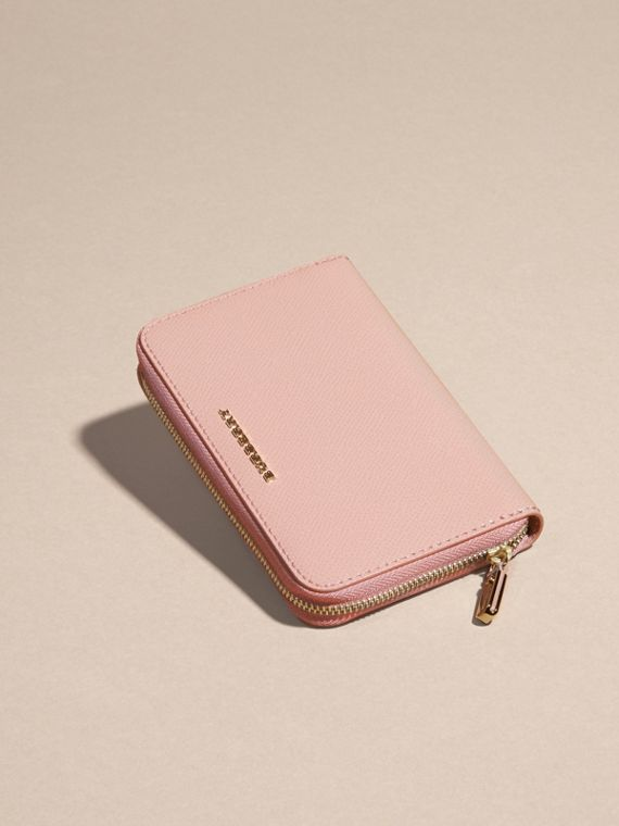 Patent London Leather Ziparound Wallet in Ash Rose - cell image 2