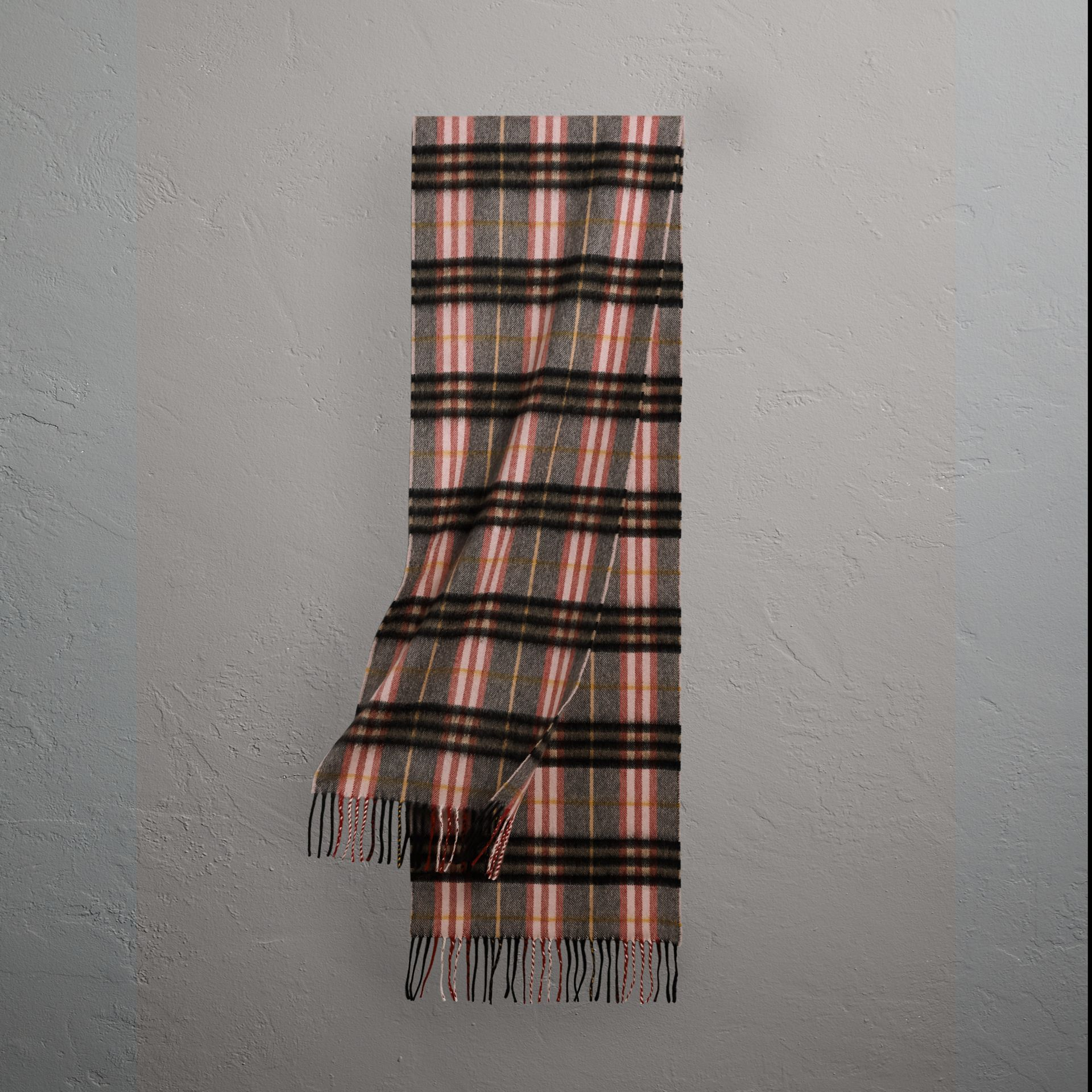 Check Cashmere Scarf in Ash Rose | Burberry United States - gallery image 0