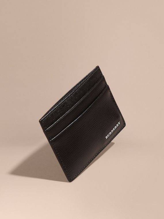 London Leather Card Case Black