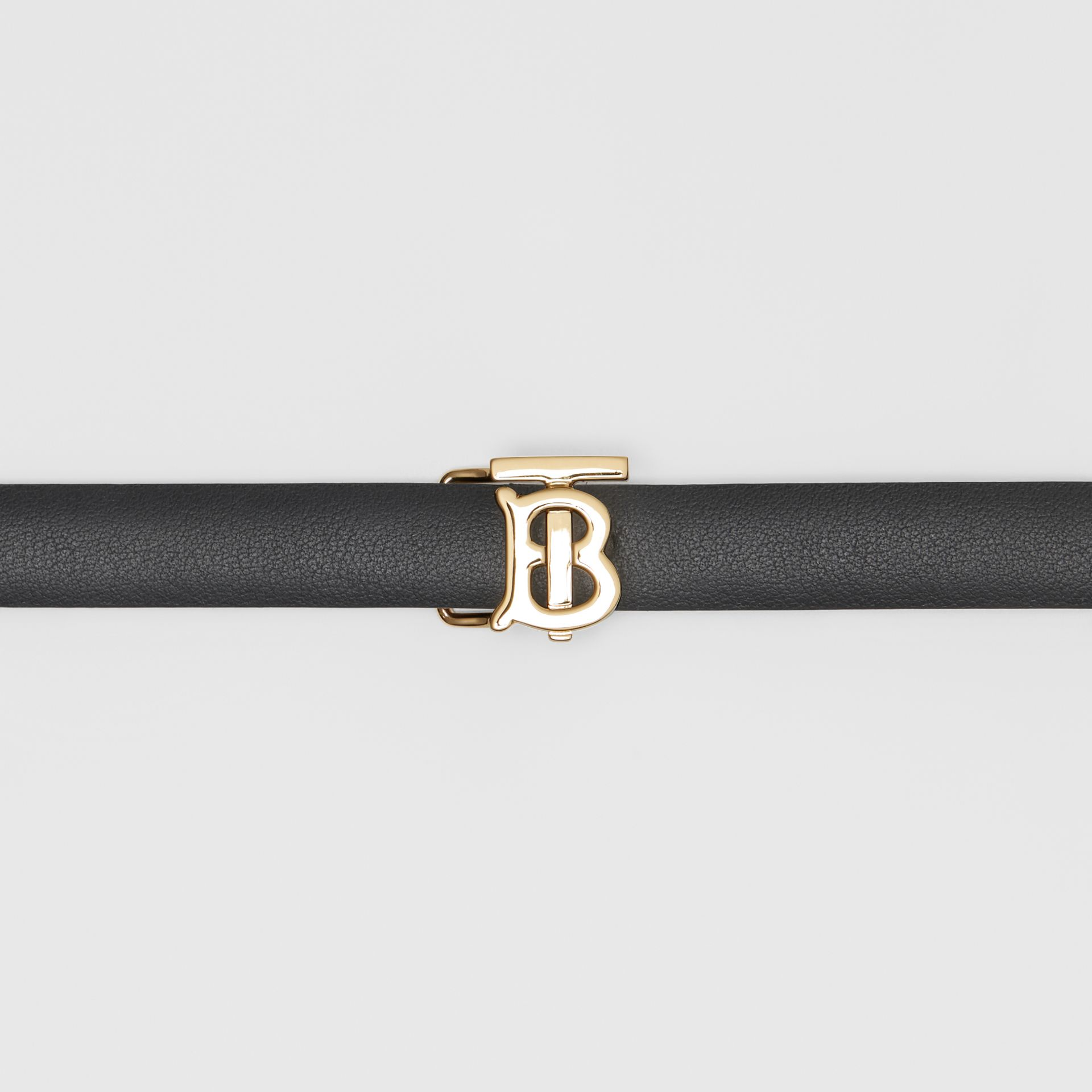 Reversible Monogram Motif Leather Wrap Belt in Black/malt Brown - Women | Burberry - gallery image 1