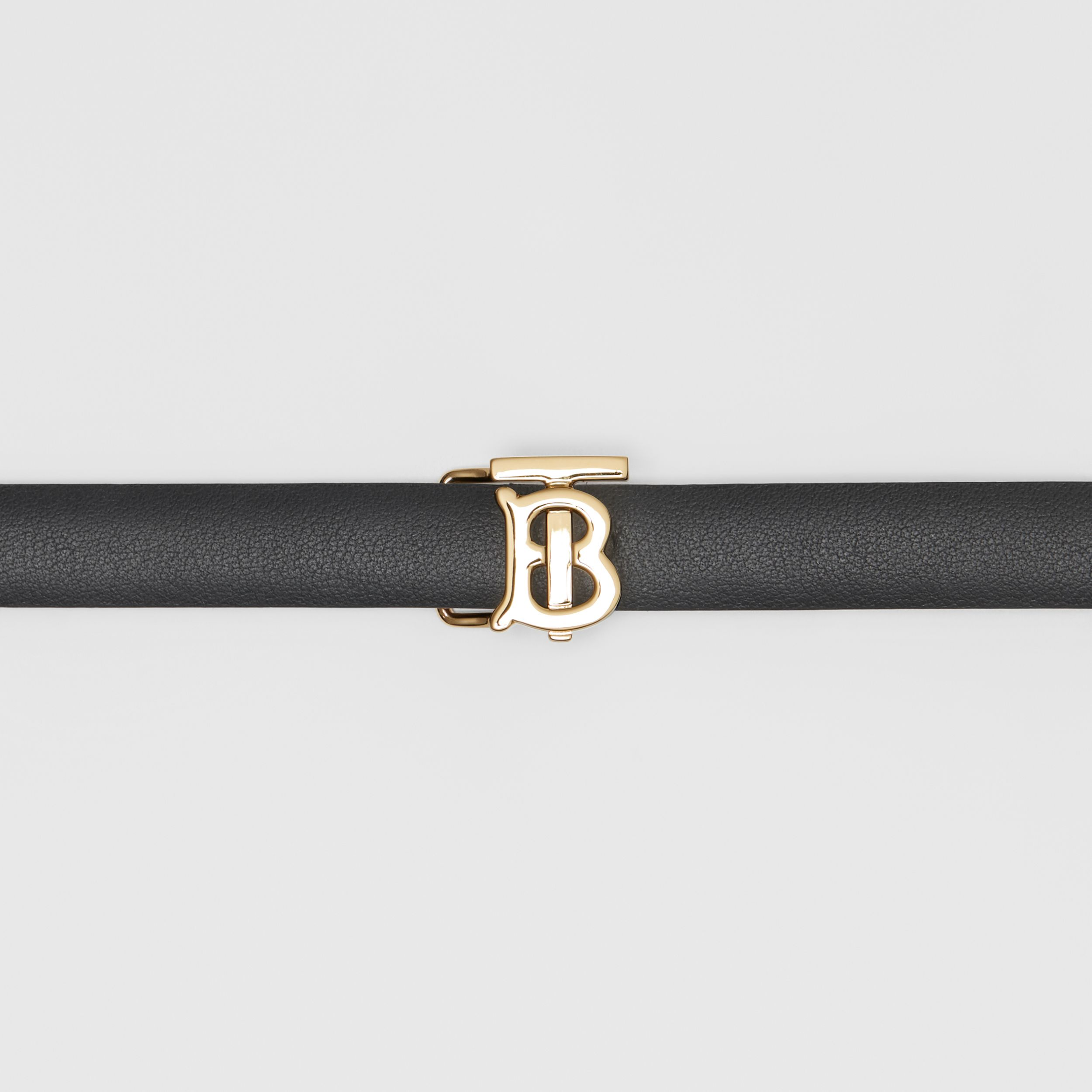 Reversible Monogram Motif Leather Wrap Belt in Black/malt Brown - Women | Burberry - 2