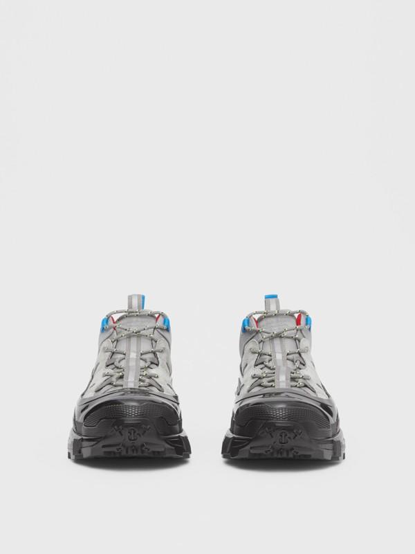 尼龍及麂皮 Arthur 運動鞋 (灰藍色) | Burberry - cell image 3