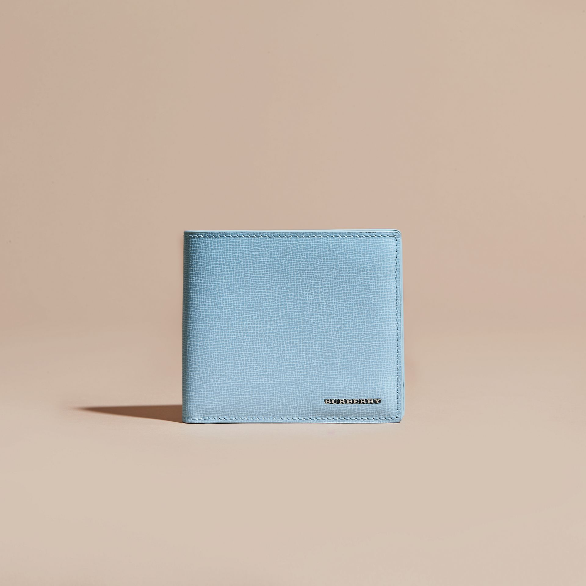 London Leather International Bifold Wallet Powder Blue - gallery image 2