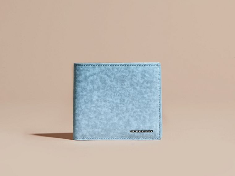London Leather International Bifold Wallet in Powder Blue - cell image 1