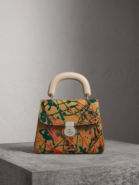 The Medium DK88 Splash Top Handle Bag in Ochre Yellow