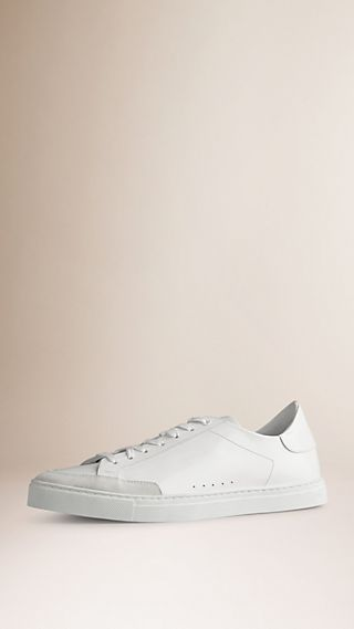 Leather Trainers with Suede Trim