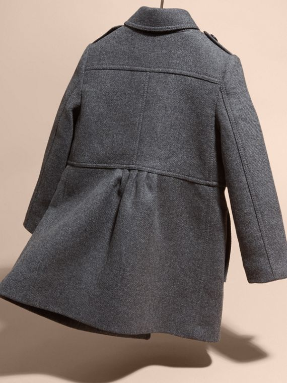 Mid grey melange Tailored Wool Cashmere Blend Coat Mid Grey Melange - cell image 3