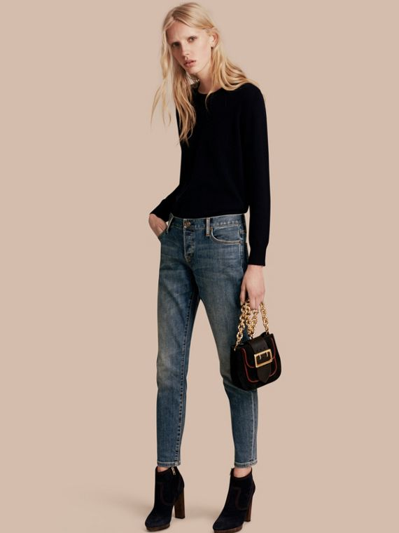 Relaxed Fit Mid-Indigo Jeans - Women | Burberry Canada