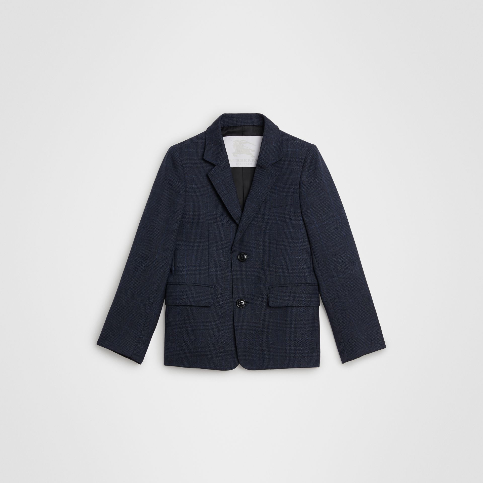 Prince of Wales Check Wool Blazer in Bright Navy | Burberry United Kingdom - gallery image 0