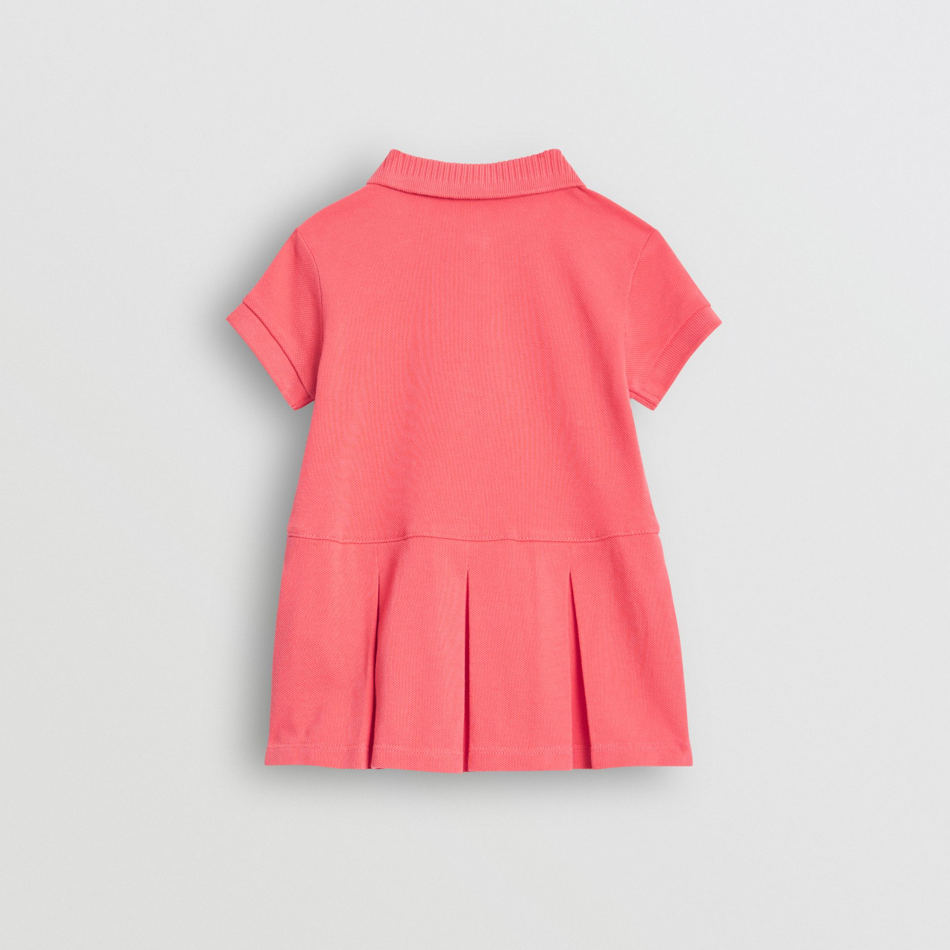 EKD Logo Cotton Polo Dress in Bright Pink - Children | Burberry United Kingdom - gallery image 3