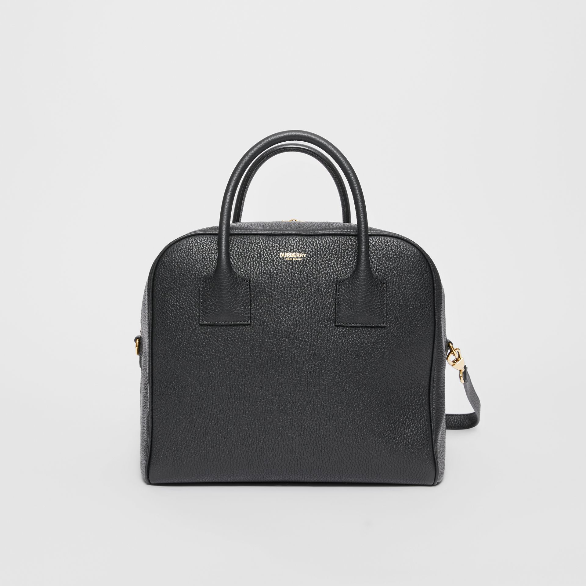 Medium Leather Cube Bag in Black - Women | Burberry Australia - gallery image 0