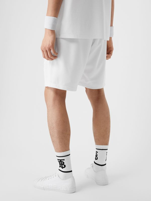 Monogram Motif Jersey Tennis Shorts in White - Men | Burberry Hong Kong - cell image 2