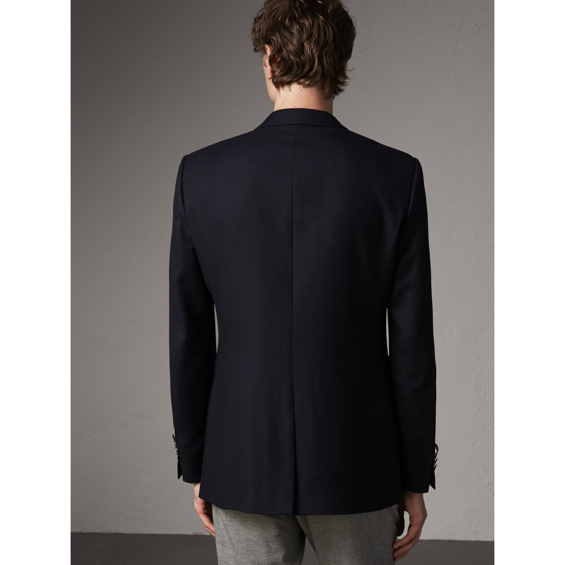 Modern Fit Tailored Wool Half-canvas Jacket in Navy - Men | Burberry Singapore - gallery image 2