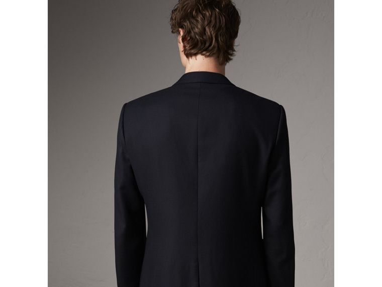 Modern Fit Tailored Wool Half-canvas Jacket in Navy - Men | Burberry - cell image 1