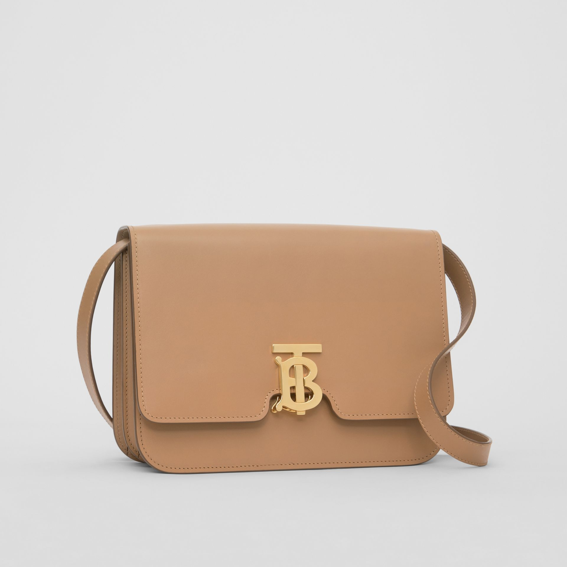 Medium Leather TB Bag in Light Camel - Women | Burberry - gallery image 3