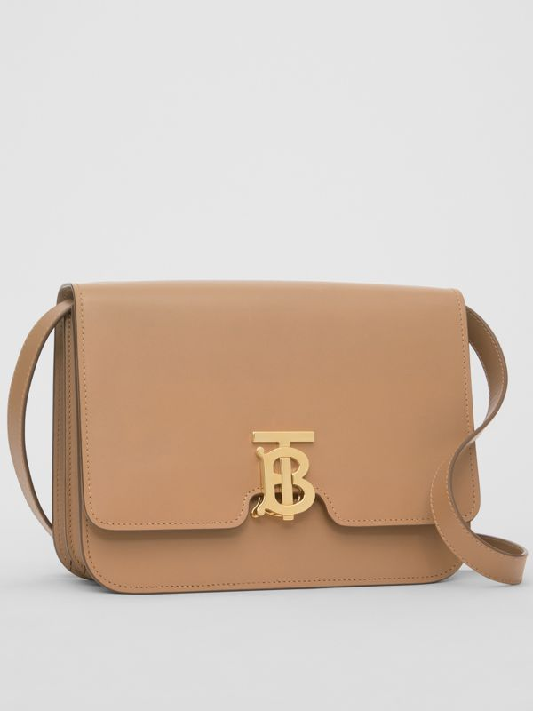 Medium Leather TB Bag in Light Camel - Women | Burberry - cell image 3