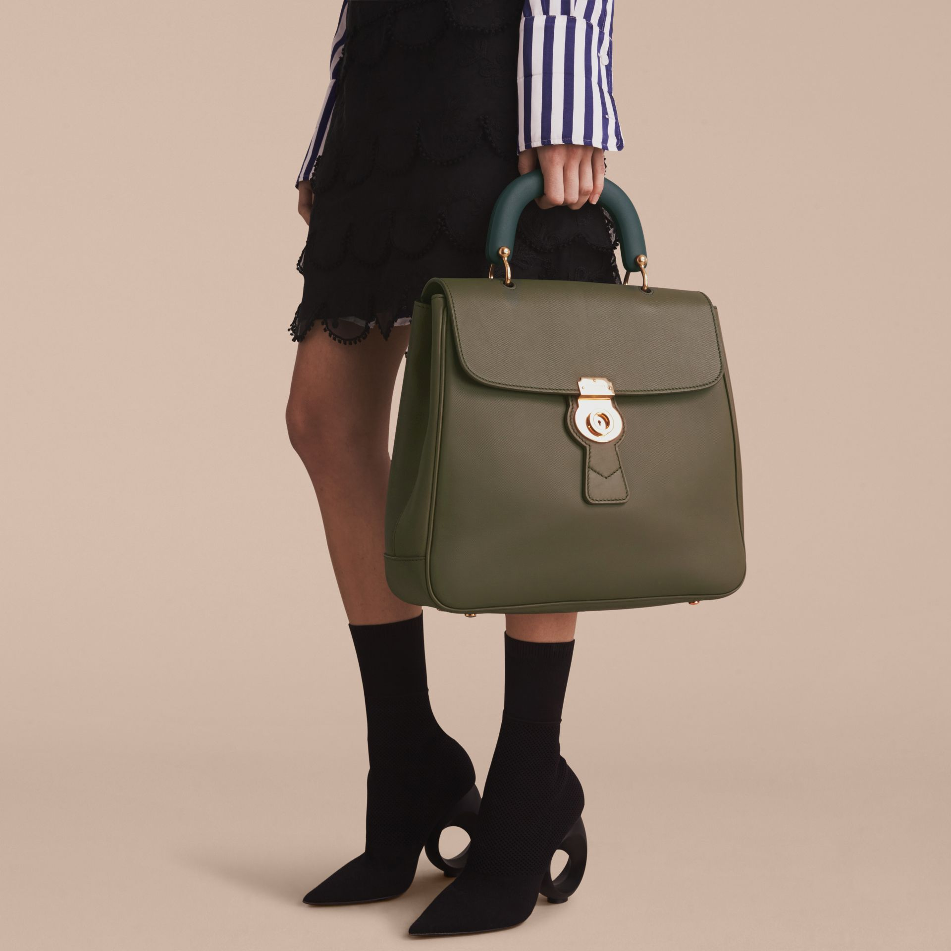 The Large DK88 Top Handle Bag Moss Green - gallery image 3