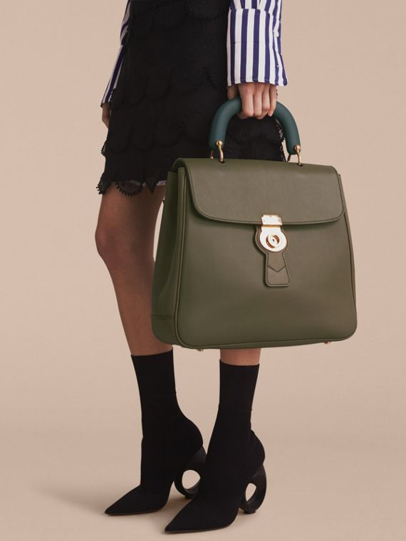 The Large DK88 Top Handle Bag Moss Green - cell image 2