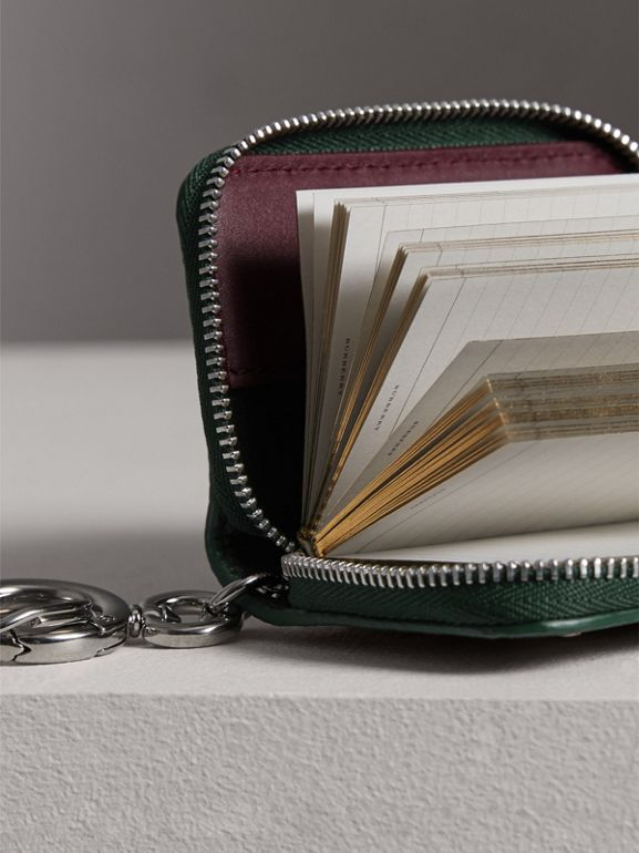Creature Appliqué Leather Notebook Charm in Racing Green | Burberry - cell image 1