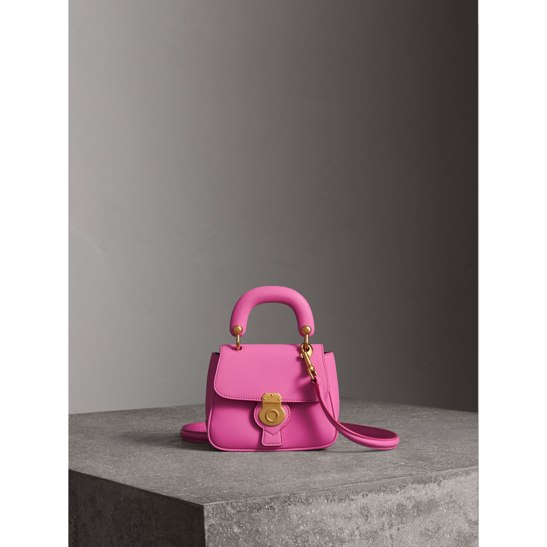 The Mini DK88 Top Handle Bag in Rose Pink - Women | Burberry United Kingdom - gallery image 1
