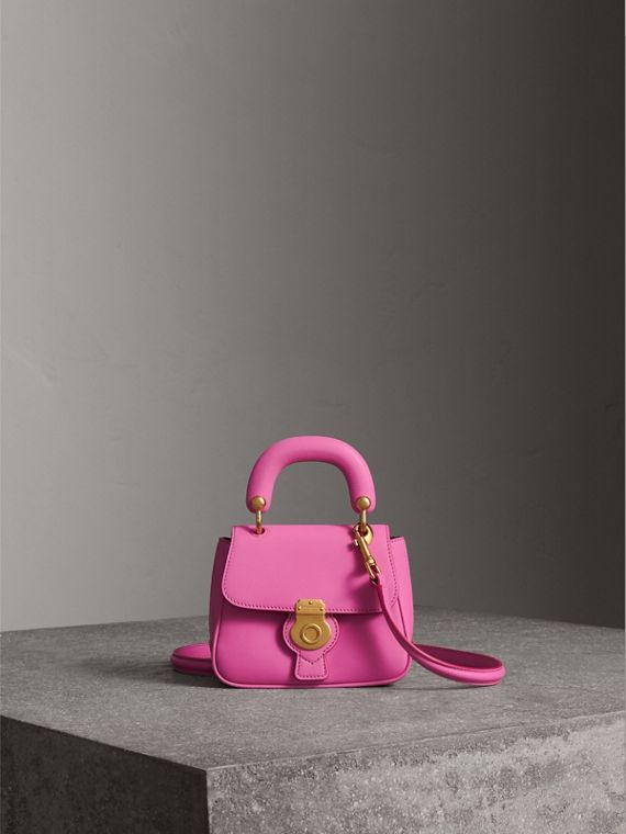 The Mini DK88 Top Handle Bag in Rose Pink