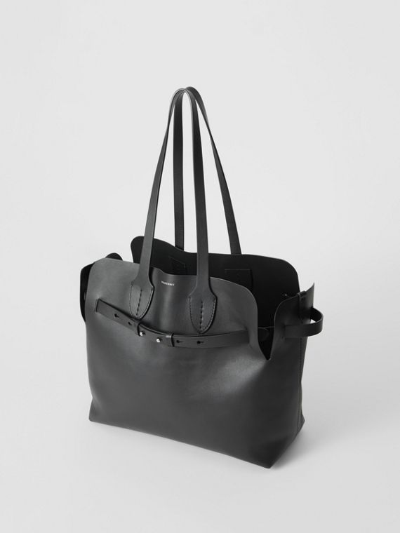 The Medium Soft Leather Belt Bag in Black