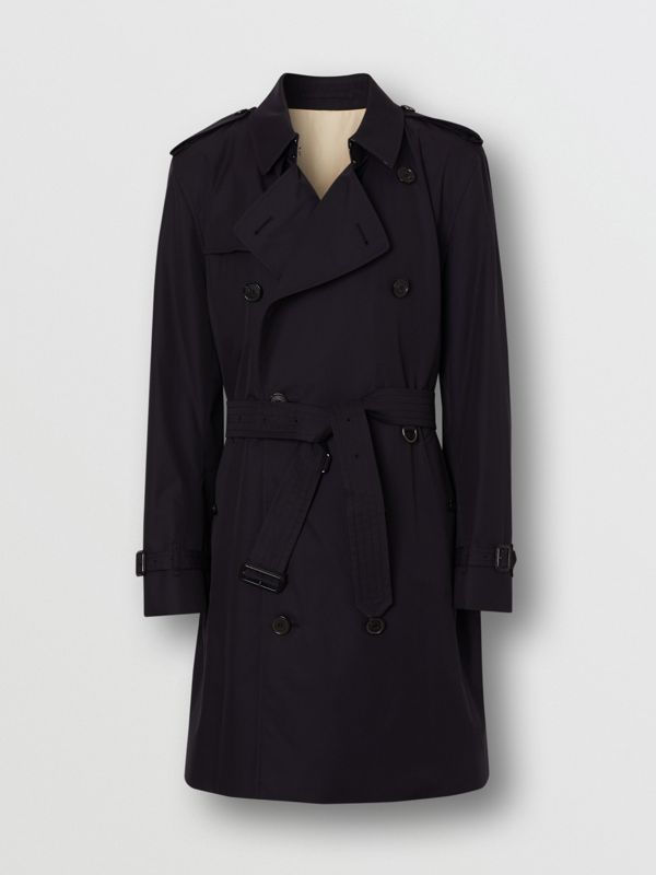 Archive Logo-lined Cotton Gabardine Trench Coat in Midnight - Men | Burberry Canada - cell image 3