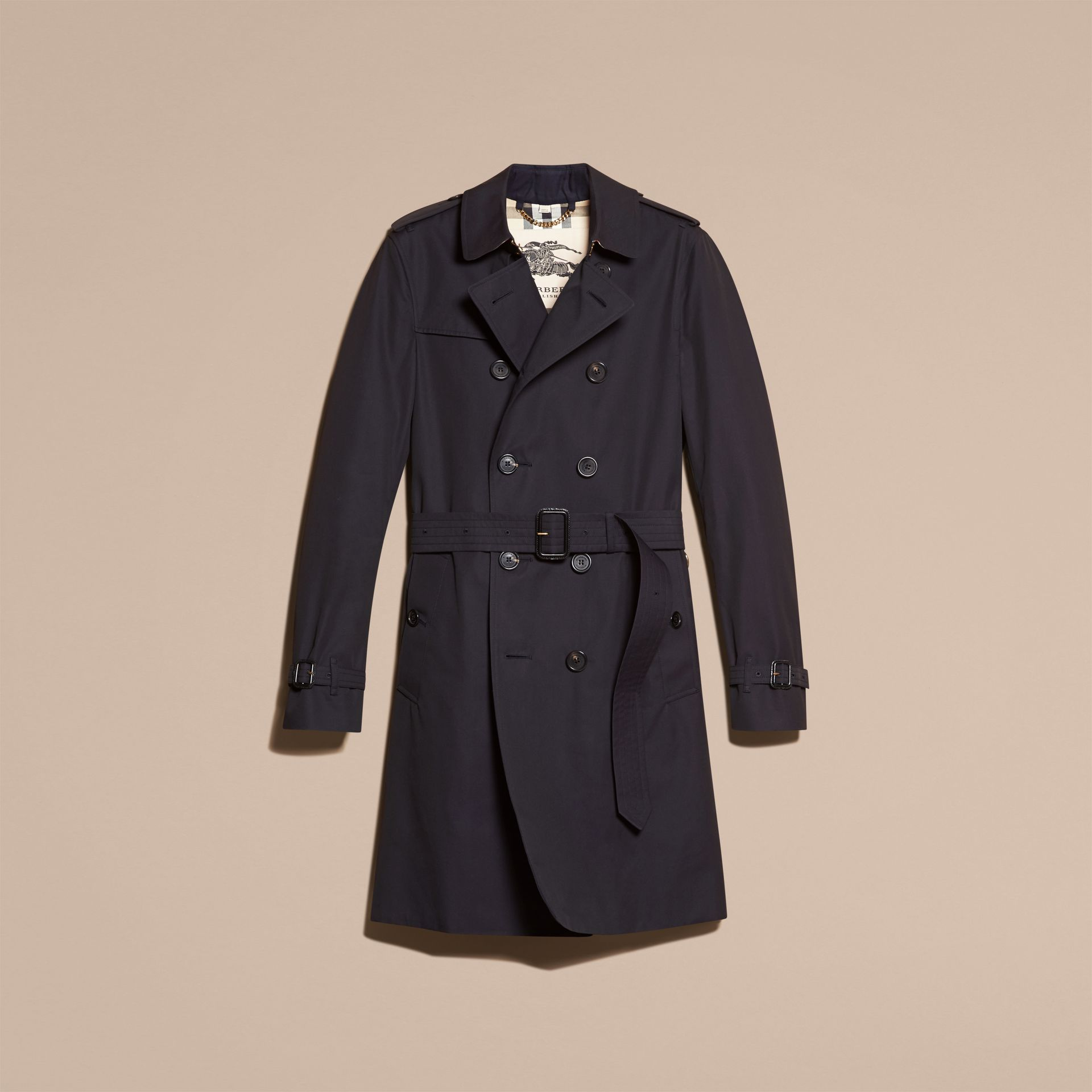 Navy The Chelsea – Long Heritage Trench Coat Navy - gallery image 4