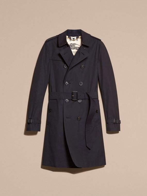 Navy The Chelsea – Long Heritage Trench Coat Navy - cell image 3