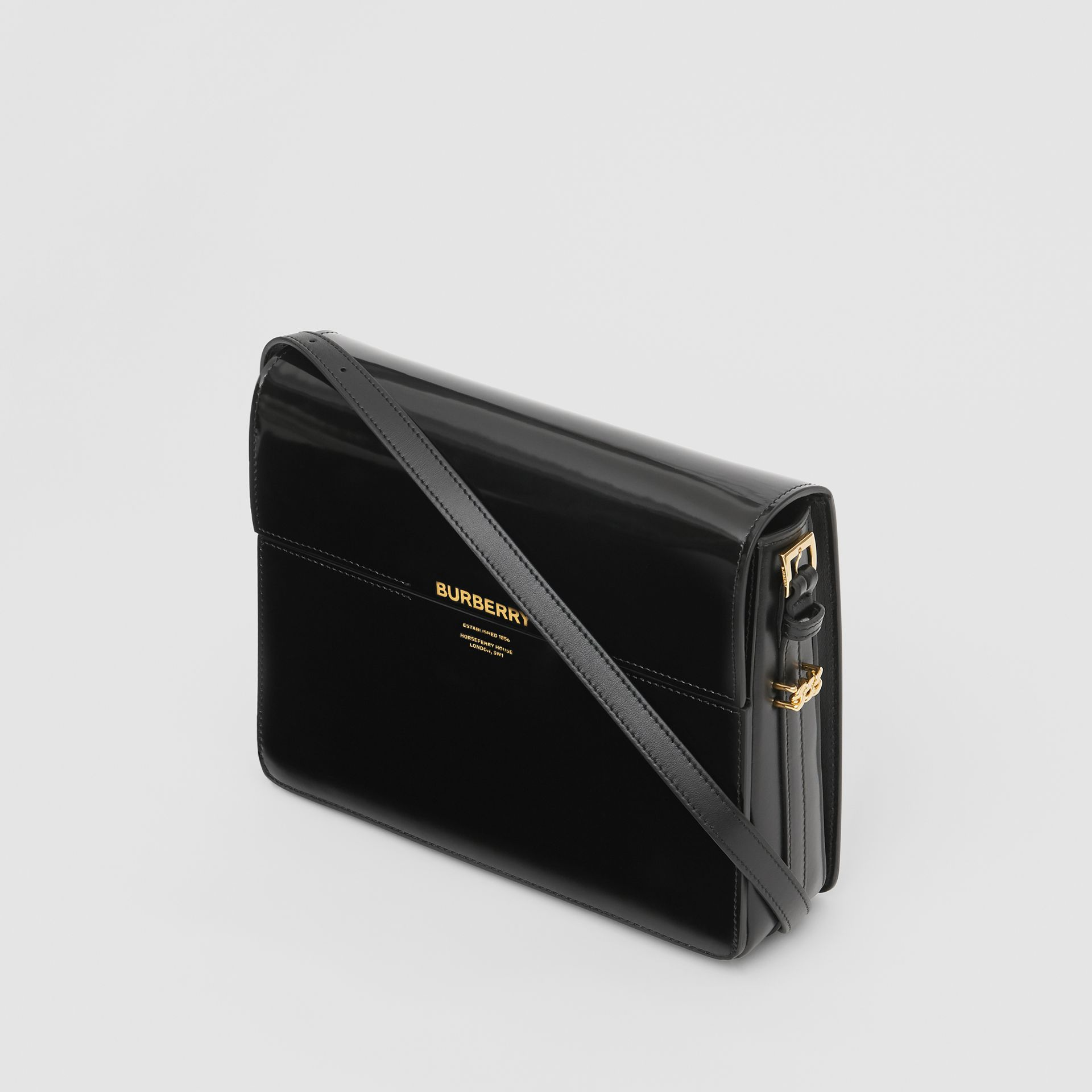 Large Patent Leather Grace Bag in Black - Women | Burberry United Kingdom - gallery image 3