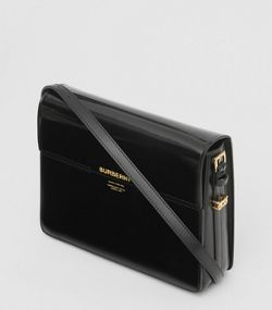 87e9bc9912 Large Patent Leather Grace Bag in Black