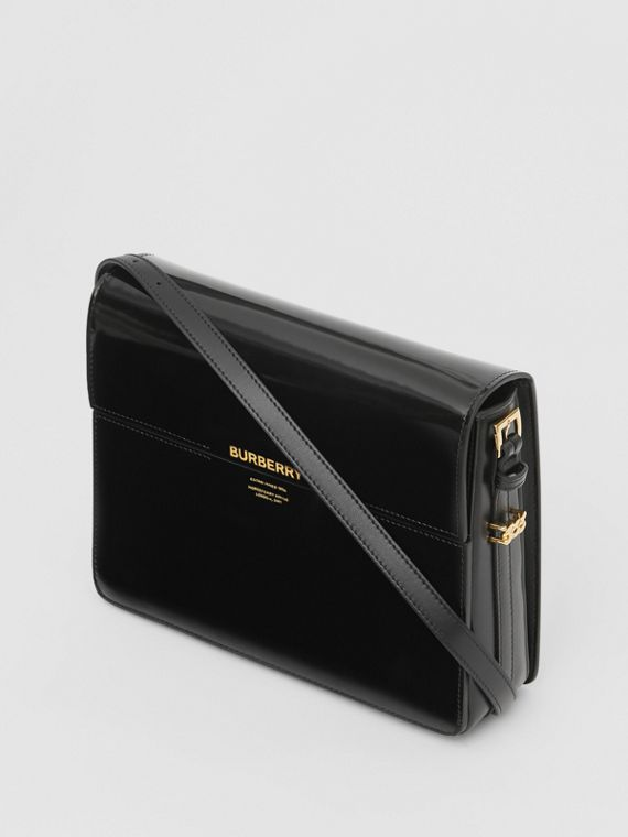 Large Patent Leather Grace Bag in Black
