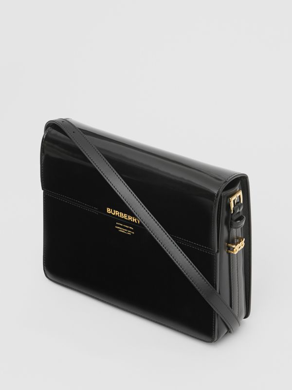 Large Patent Leather Grace Bag in Black - Women | Burberry - cell image 3