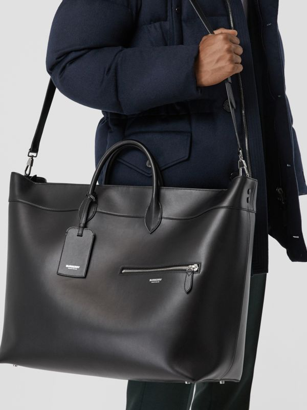 Leather Holdall in Black - Men | Burberry Australia - cell image 2