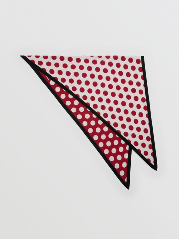 The Burberry Bandana in Spot Wool Blend in Multicolour