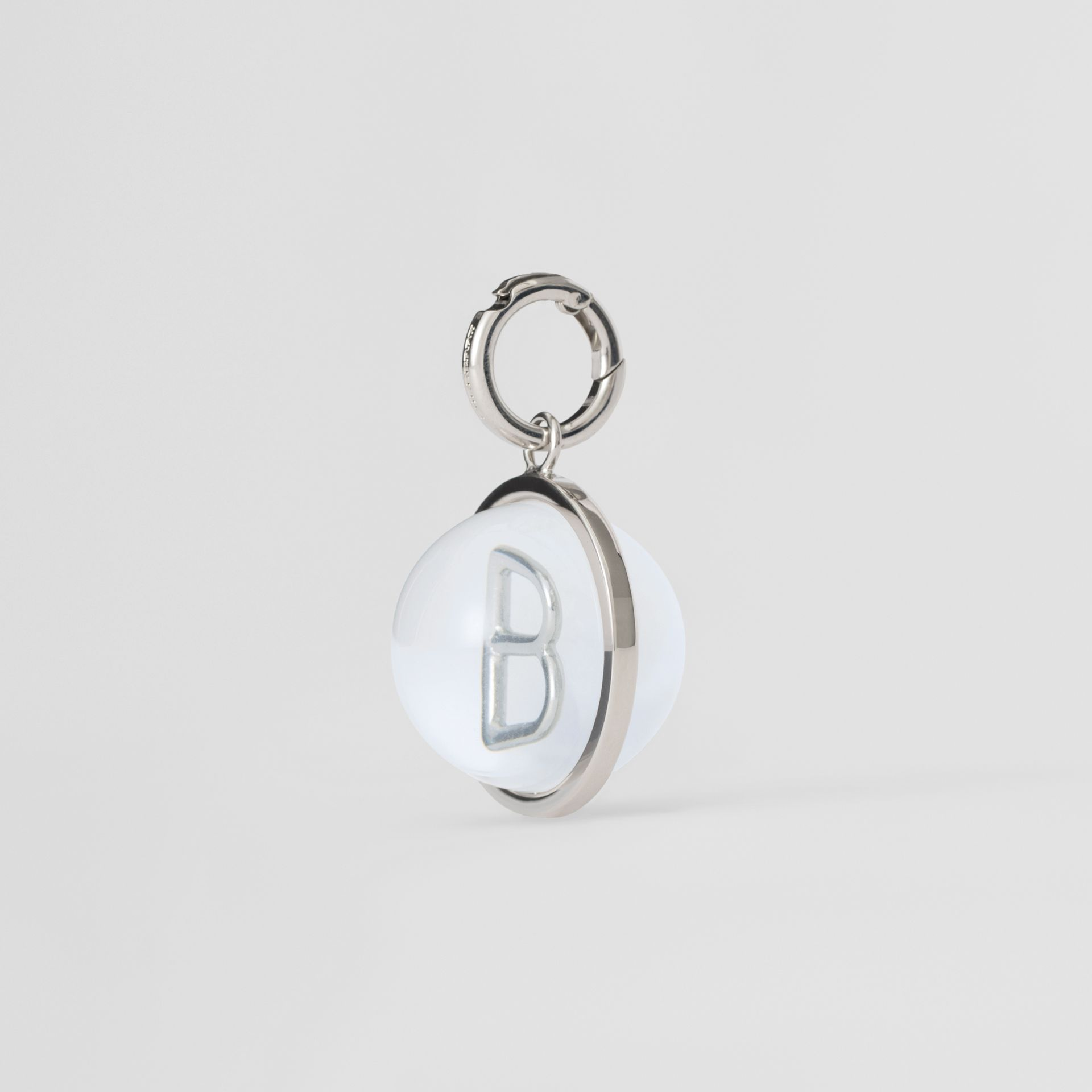 Marbled Resin 'B' Alphabet Charm in Palladio/nacre - Women | Burberry United Kingdom - gallery image 4