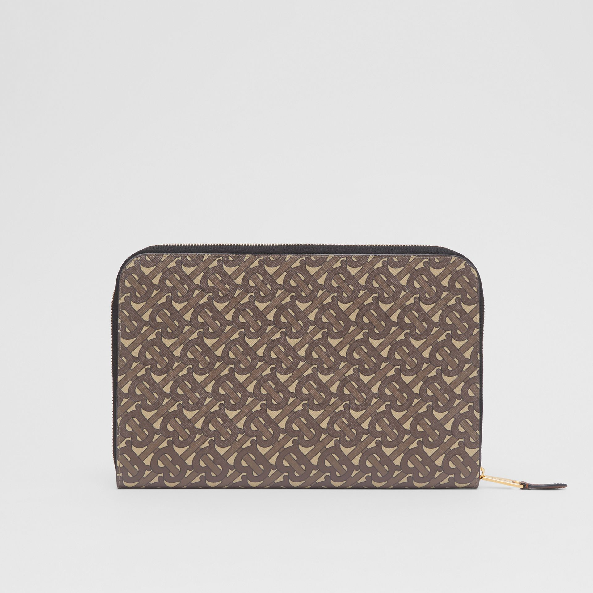 Monogram Print E-canvas and Leather Ziparound Pouch in Bridle Brown | Burberry Hong Kong S.A.R - gallery image 8