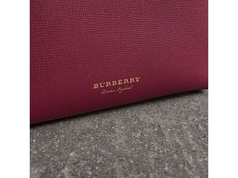 The Small Banner in Two-tone Leather in Berry Pink - Women | Burberry Hong Kong - cell image 1