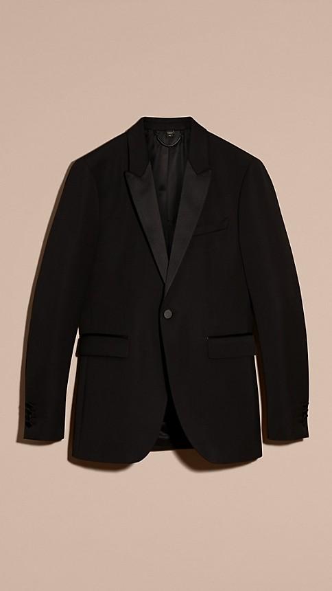 Black Satin Lapel Tuxedo Jacket - Image 7