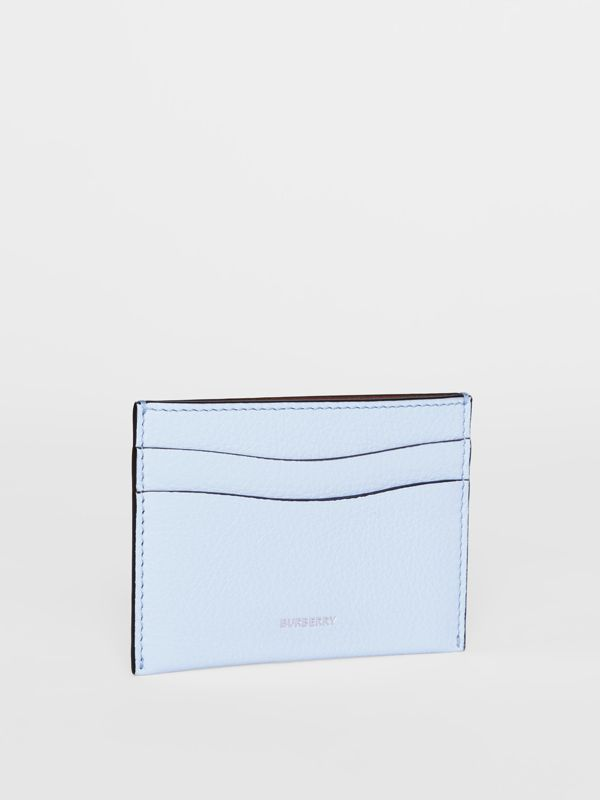 Grainy Leather Card Case in Pale Blue | Burberry - cell image 3